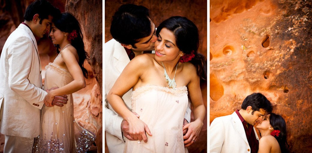 Chhavi Saurabh - Zion National Park Engagement Session Utah - Red Clay Canyon - Rahul Rana Photography