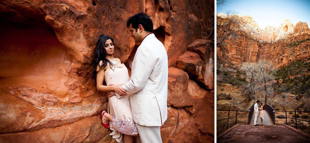 Chhavi Saurabh - Zion National Park Engagement Session Utah - Rahul Rana Photography