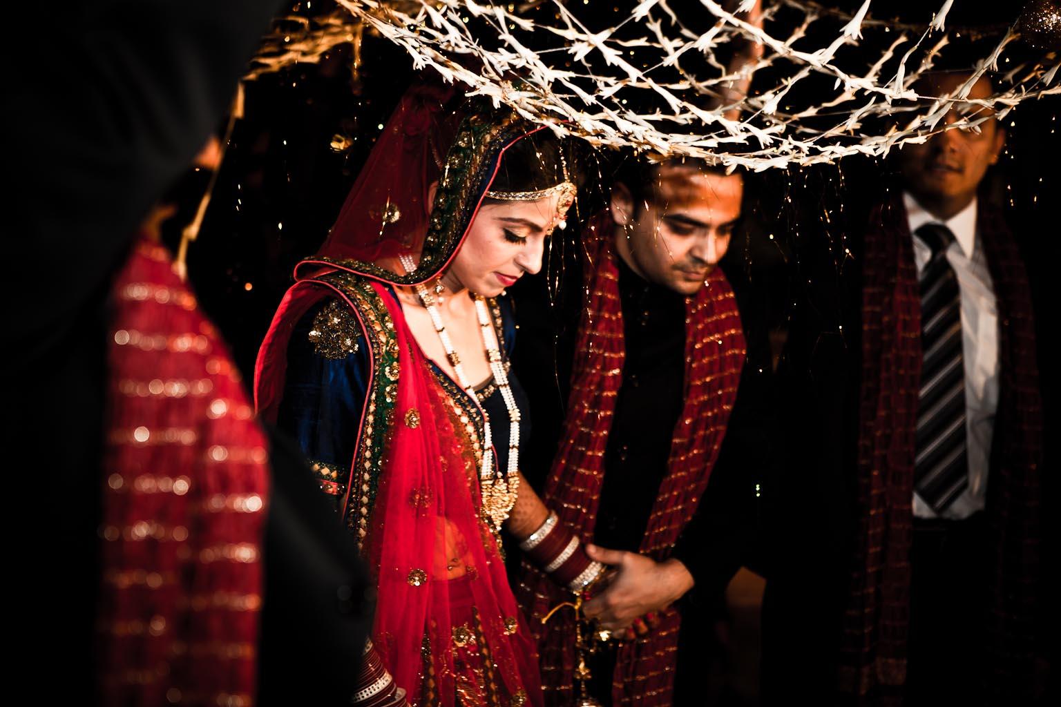Bride Entrance - Delhi Goregaon Indian wedding - Chhavi Saurabh - Rahul Rana Photography