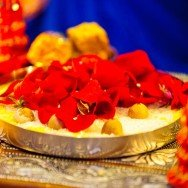 San Diego Wedding Photography Griha Shanti Puja flowers thali