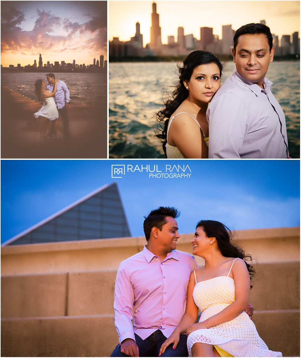 Dipali Shashin - Chicago Engagement - Skyline - Rahul Rana Photography