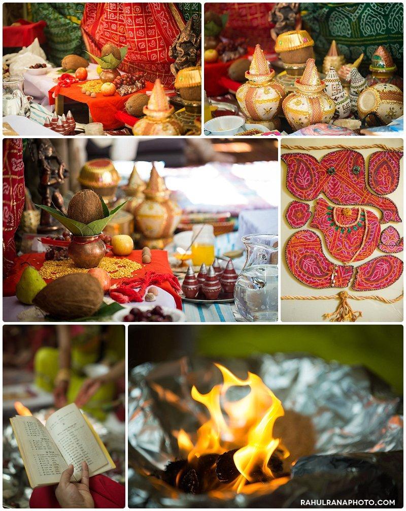 Roopal Aashit - Streamwood Illinois Grah Shanti Pithi Pooja - Rahul Rana Photography