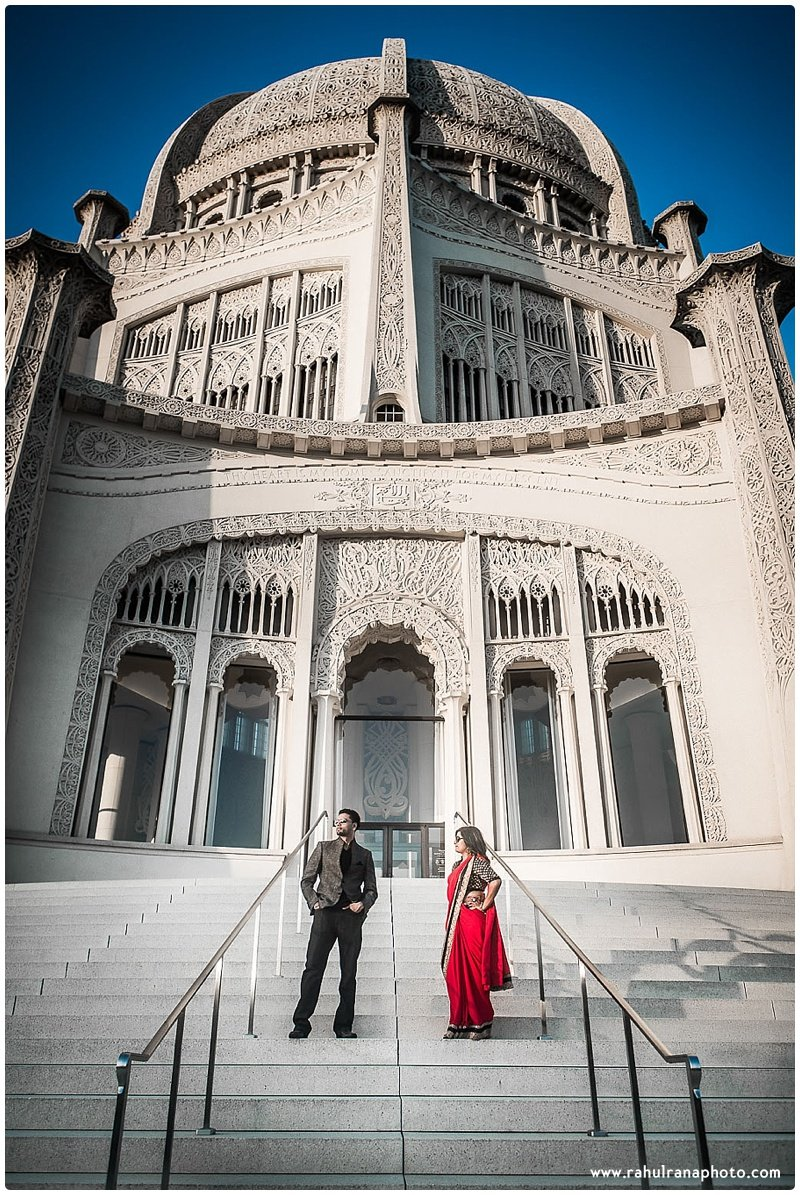 Neha Keyur - Baha'i Temple Wilmette pre-wedding - Rahul Rana Photography