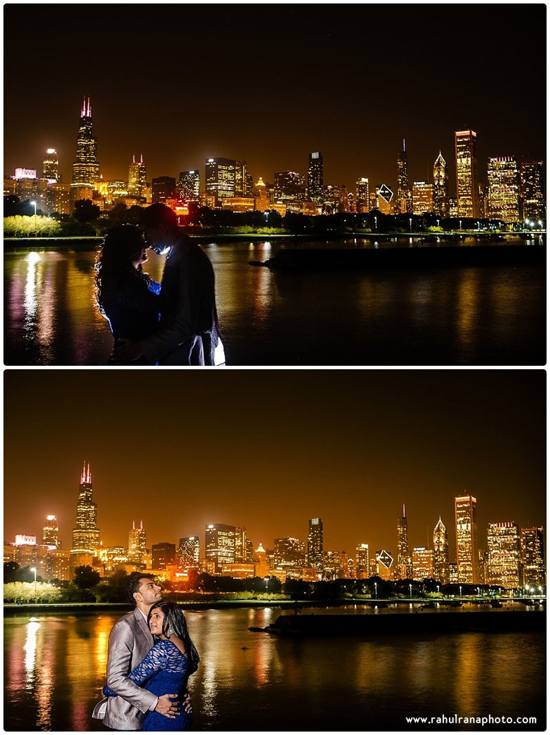 Neha Keyur - Willis Tower Chicago skyline engagement session - Rahul Rana Photography
