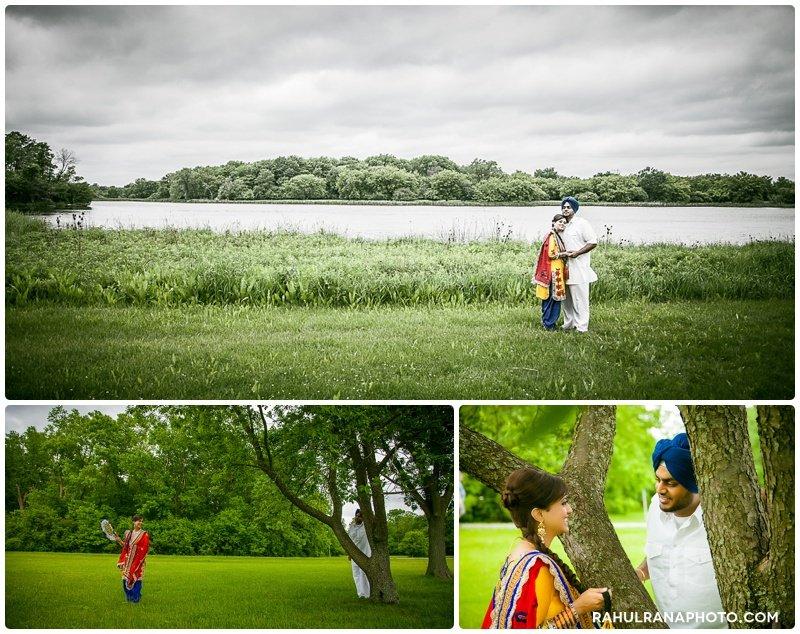 Perneet Jaspreet - Schaumburg grass field engagement - Rahul Rana Photography