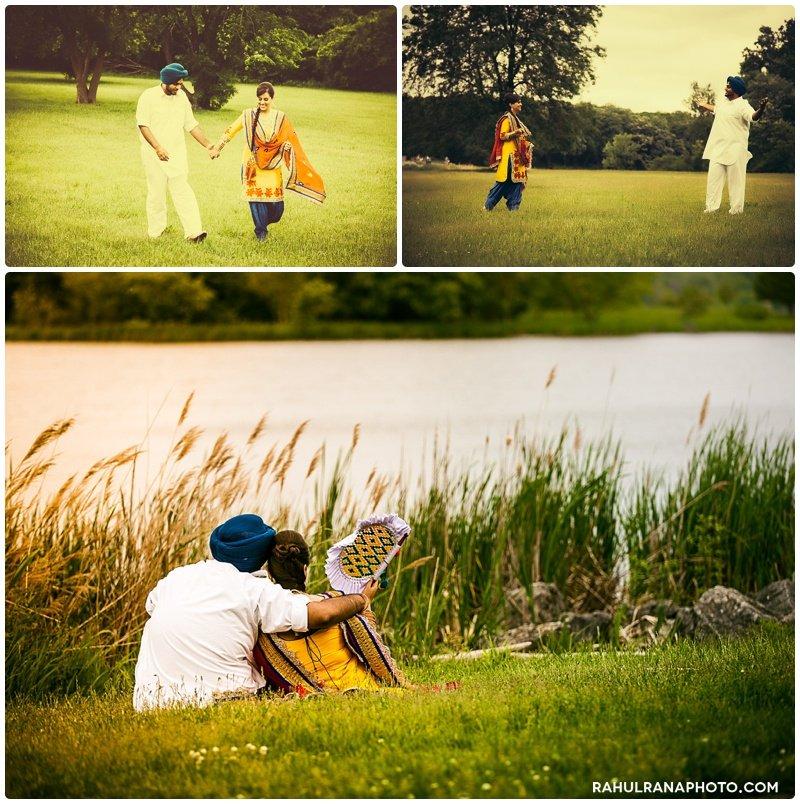 Perneet Jaspreet - old Bollywood movie style engagement session - Rahul Rana Photography