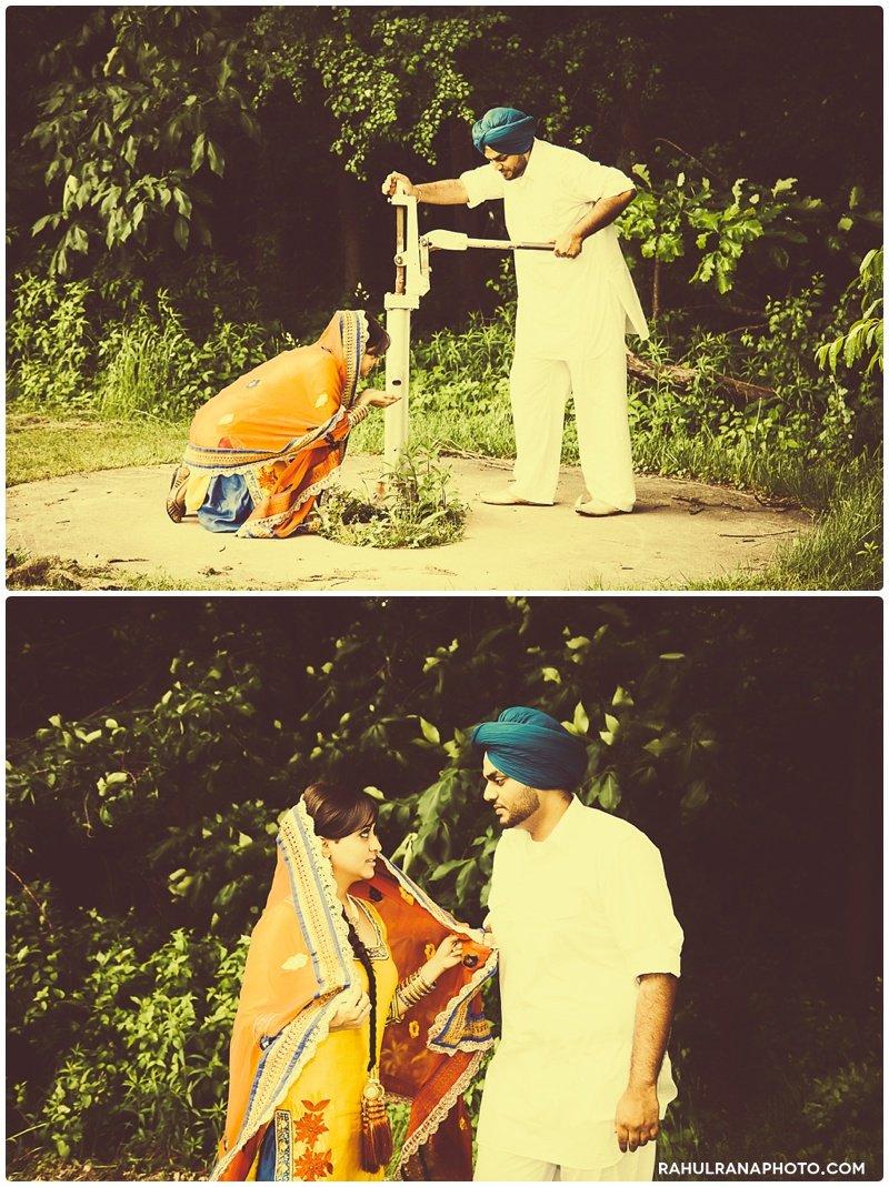 Perneet Jaspreet - Punjab Village farm water well vintage - Rahul Rana Photography