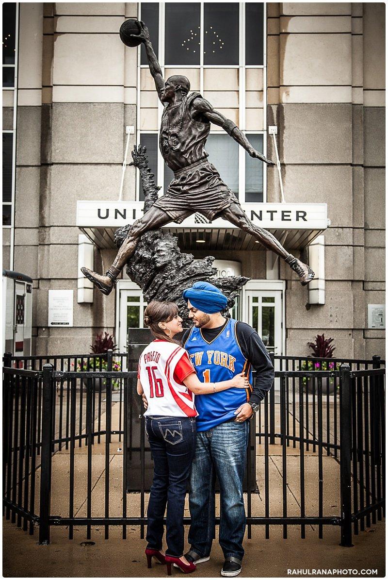 Perneet Jaspreet - Michael Jordan statue United basketball jersey custom - Rahul Rana Photography