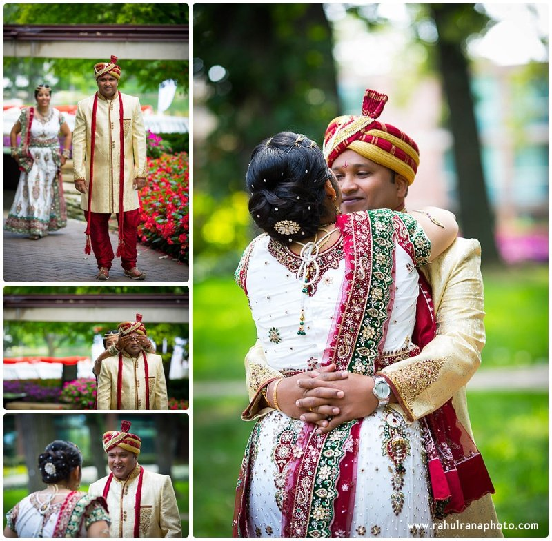 Pooja-Krishna-McDonalds-Hamburger University Campus-Gujrati-Wedding-First Look-Rahul-Rana-Photography