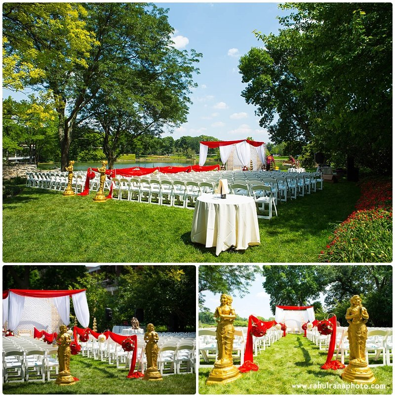 Pooja-Krishna-Elk-Grove-Village-Indian-Venue Mandap Chairs Seating Flowers-Rahul-Rana-Photography