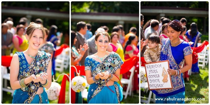 Pooja-Krishna-Elk-Grove-Village-Indian-Wedding Bridesmaid Entry-Rahul-Rana-Photography