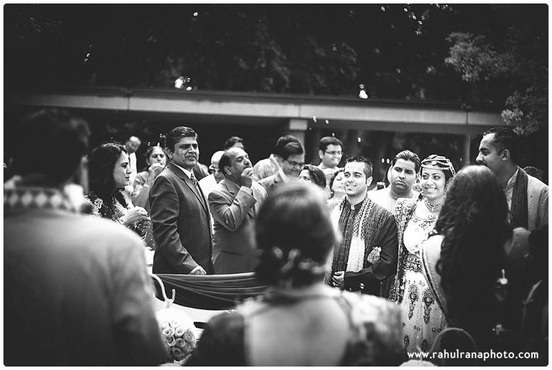 Pooja-Krishna-Elk-Grove-Village-Indian-Wedding Bride Enter Bubbles-Rahul-Rana-Photography