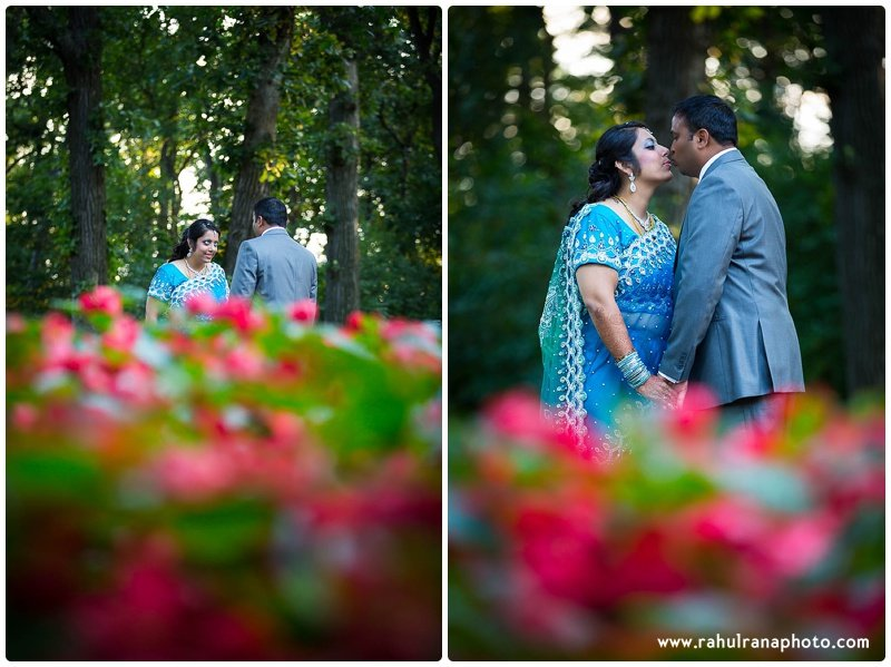 Pooja-Krishna-Elk-Grove-Village-Indian-Wedding Blue Red Flowers-Rahul-Rana-Photography