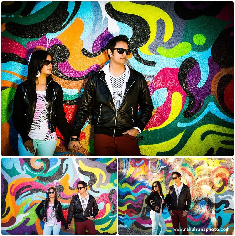 Rina Sunny - Chicago graffiti engagement session - Rahul Rana Photography