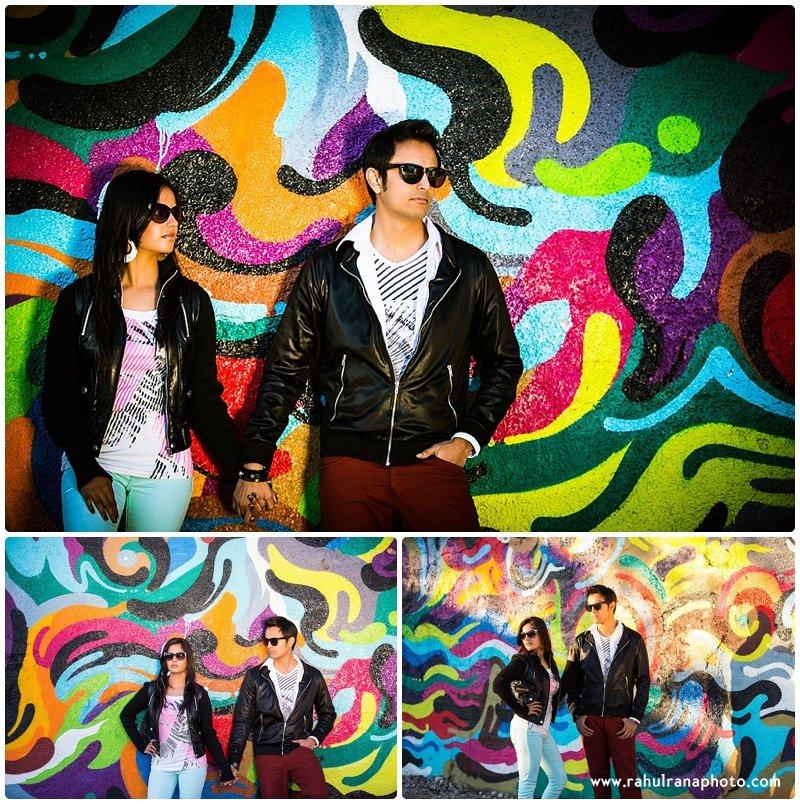 Rina Sunny - Chicago graffiti engagement session - Rahul Rana Photography