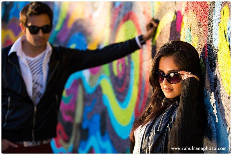 Rina Sunny - graffiti urban fashion engagement session - Rahul Rana Photography