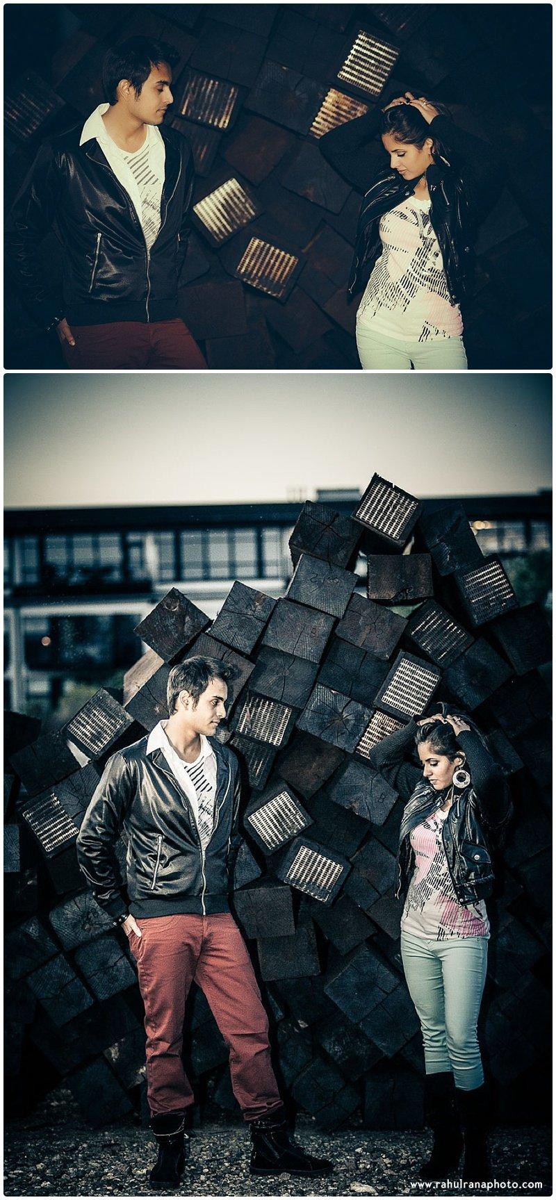 Rina Sunny - wood logs engagement session - Rahul Rana Photography