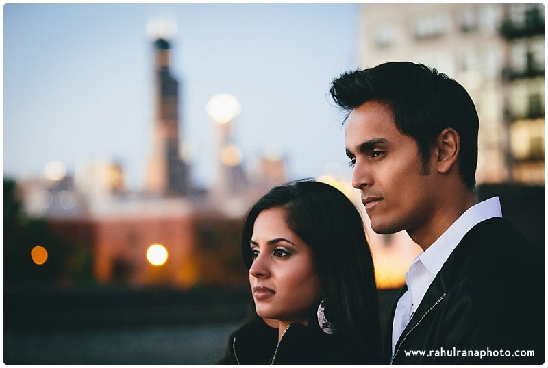 Rina Sunny - Chicago Willis tower engagement session - Rahul Rana Photography