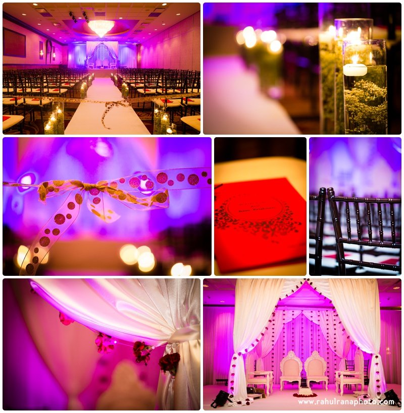 Mandap venue - Gujarati Indian Wedding Holiday Skokie - Rahul Rana Photography