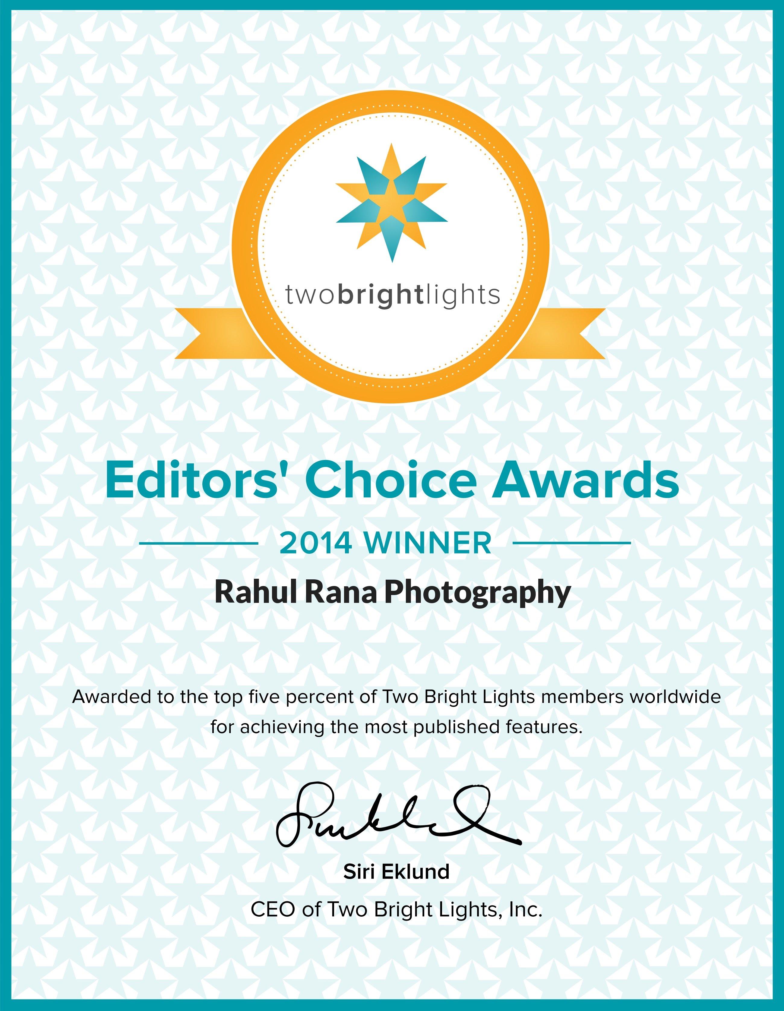 Editors' Choice Award