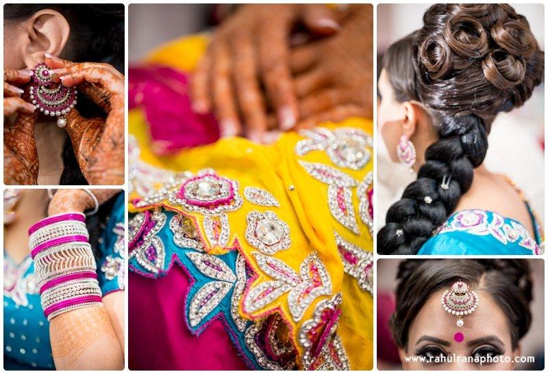 Perneet Jaspreet - Indian Bridal Jewelry Mehndi Hair - Ford New Jersey Wedding - Rahul Rana Photo