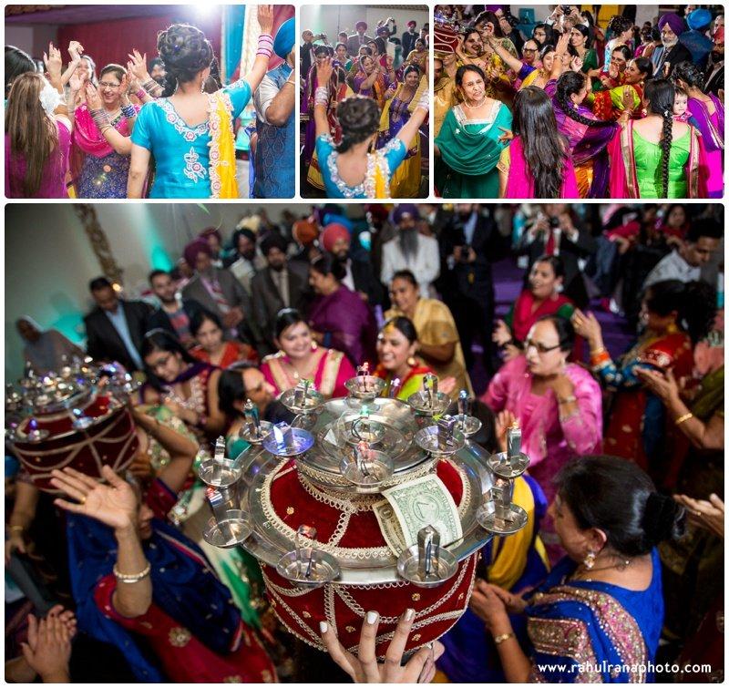 Perneet Jaspreet - Punjabi Jaago - Royal Albert's Palace - Ford New Jersey Wedding - Rahul Rana Photo