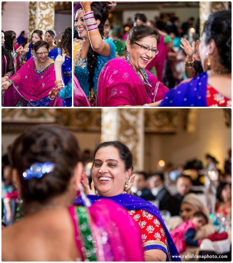Perneet Jaspreet - Punjabi Jago Mother in Laws Dancing - Royal Albert's Palace - Ford New Jersey Wedding - Rahul Rana Photo