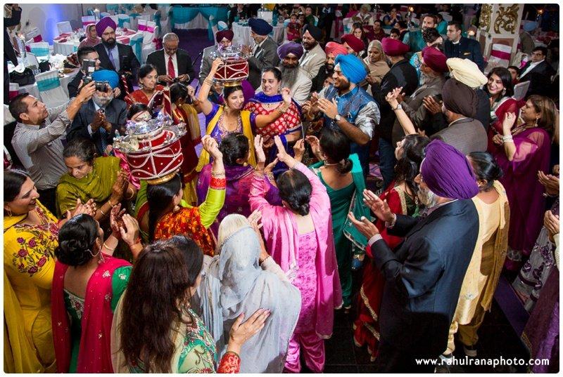 Perneet Jaspreet - Punjabi Jago Dancing - King Georges Post Ford New Jersey Wedding - Rahul Rana Photo