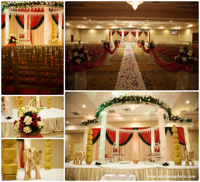Neha Keyur - Venue Hall Decor Elmhurst Illinois Wedding - Waterford Banquets - Rahul Rana Photo