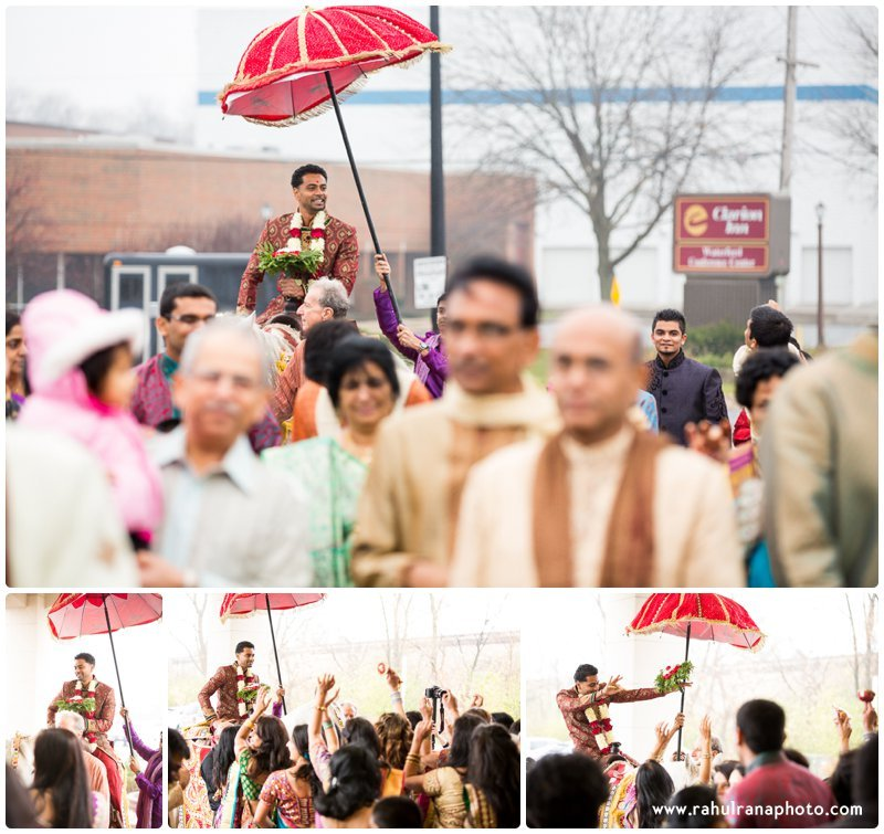 Neha Keyur - Baarat Horse Elmhurst Illinois Wedding - Waterford Banquets - Rahul Rana Photo