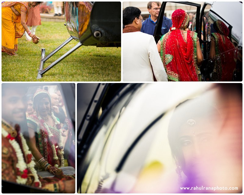 Neha Keyur - Helicopter Bidaai Elmhurst Illinois Wedding - Waterford Banquets - Rahul Rana Photo