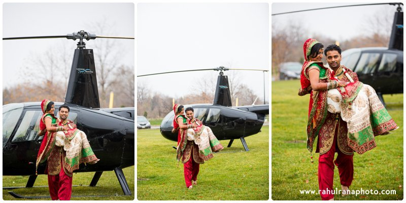 Neha Keyur - Helicopter Elmhurst Illinois Wedding - Waterford Banquets - Rahul Rana Photo