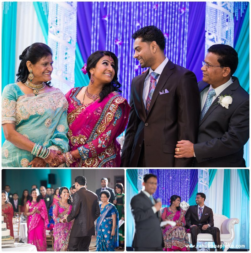 Neha Keyur - Reception Family Elmhurst Illinois - Waterford Banquets - Rahul Rana Photo