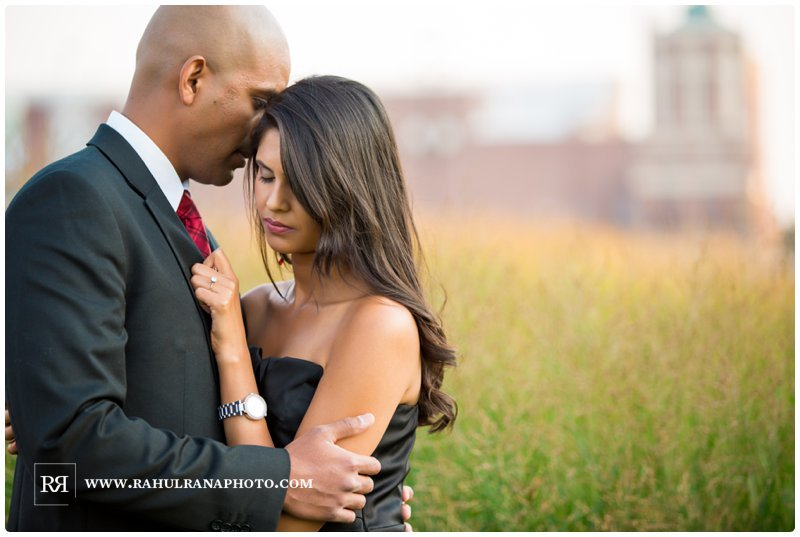 Pinkie Hardik - Chicago Olive Park Grass Field - Engagement Session - Rahul Rana Photography