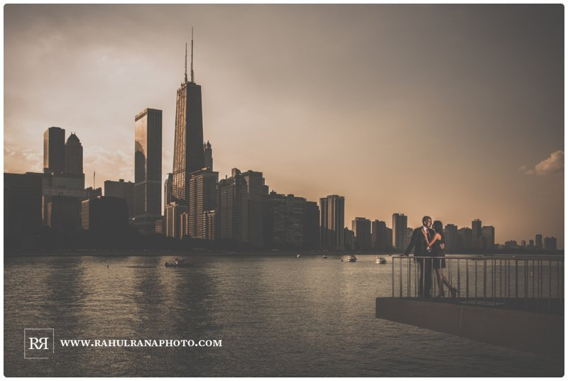 Pinkie Hardik - Chicago Skyline John Hancock - Engagement Session - Rahul Rana Photography