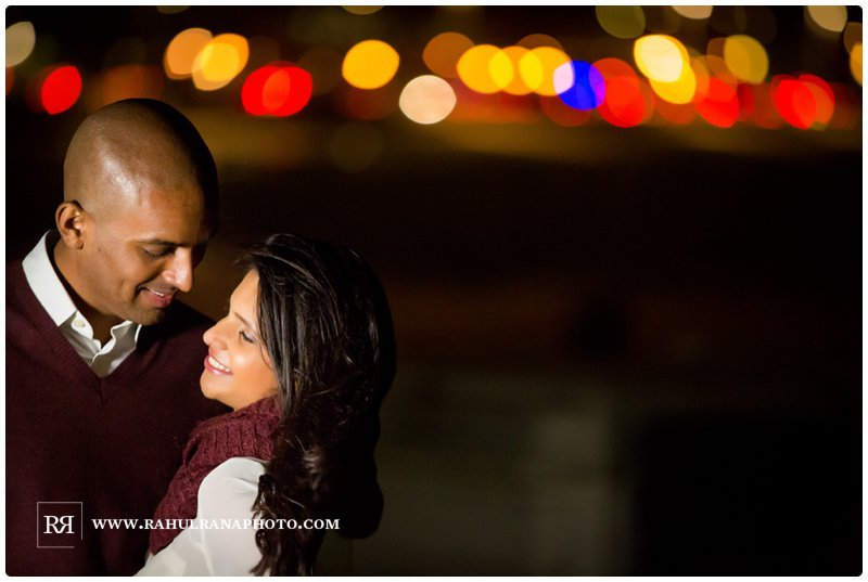 Pinkie Hardik - Chicago Skyline Lights - Engagement Session - Rahul Rana Photography