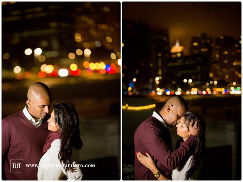 Pinkie Hardik - Chicago Skyline Lights - Fall Engagement Session - Rahul Rana Photography