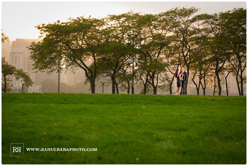 Pinkie Hardik - Chicago Sunset Trees - Engagement Session - Rahul Rana Photography