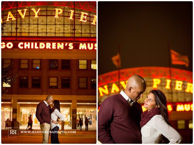 Pinkie Hardik - Navy Pier - Fall Engagement Session - Rahul Rana Photography