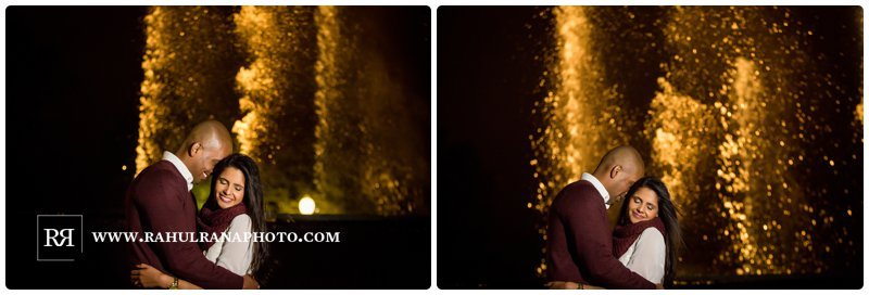 Pinkie Hardik - Navy Pier Fountain - Engagement Session - Rahul Rana Photography