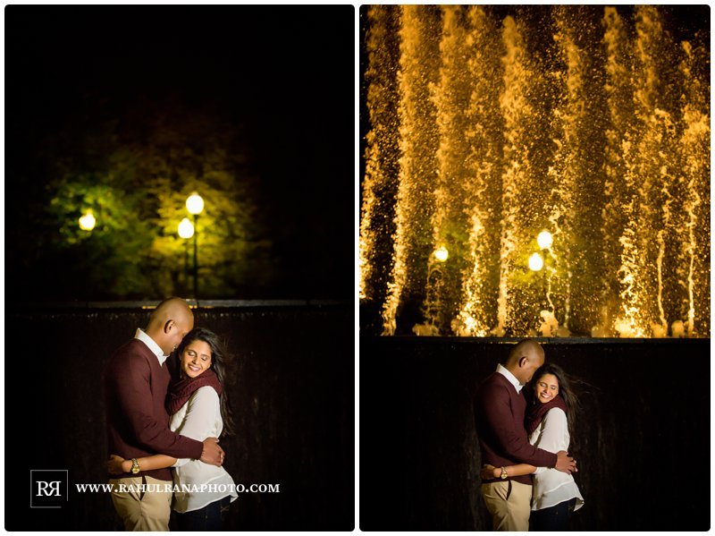 Pinkie Hardik - Navy Pier Fountain Lights - Engagement Session - Rahul Rana Photography