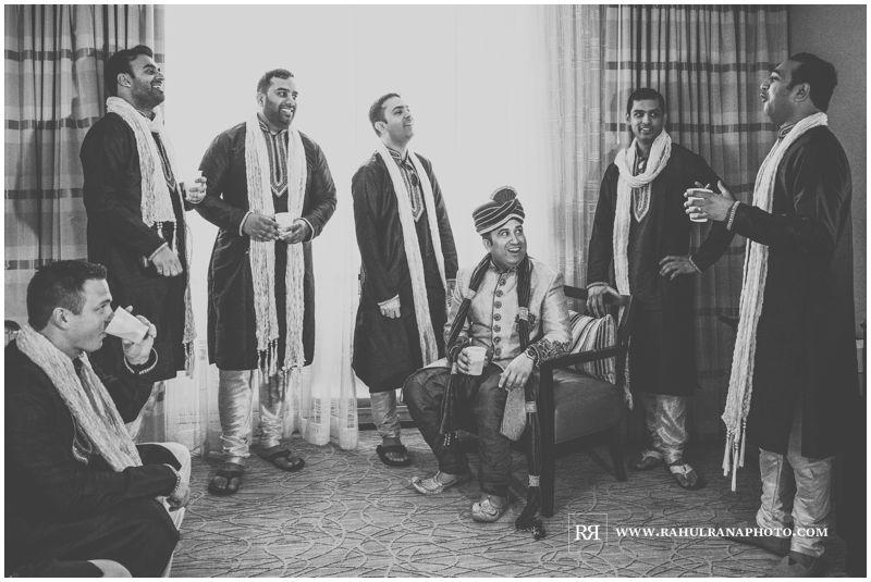 Puja Neel - Chicago Marriott O'Hare - Indian Wedding - Groomsmen Getting Ready