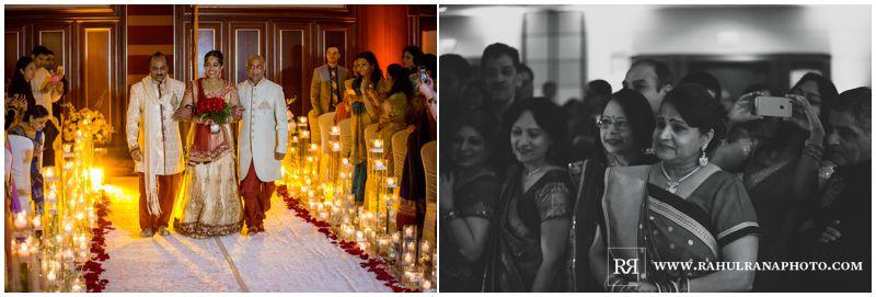 Puja Neel - Chicago Marriott O'Hare - Indian Wedding -  Bride Entrance