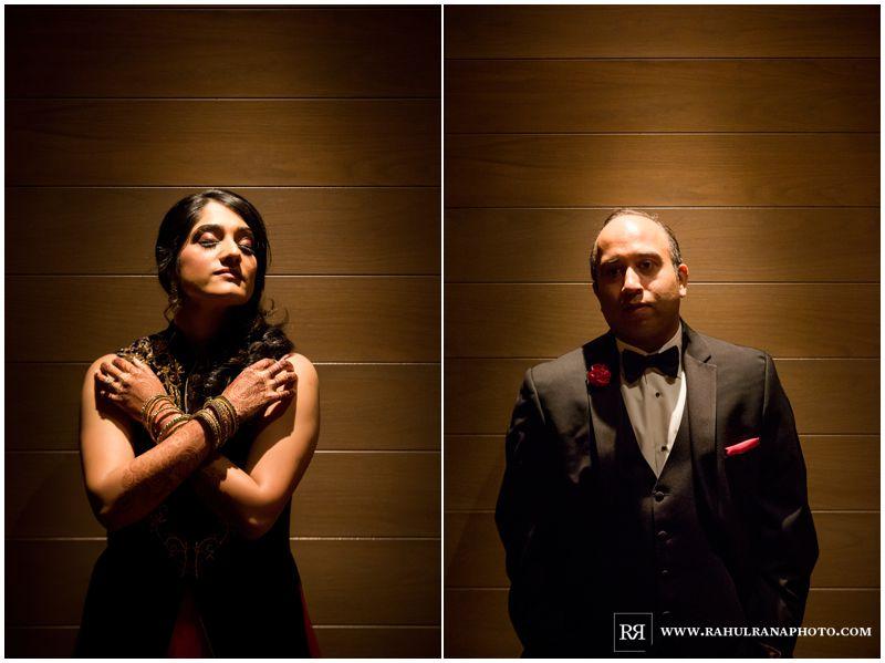 Puja Neel - Chicago Marriott O'Hare - Indian Wedding -  Bride Groom Portraits - Rahul Rana Photo