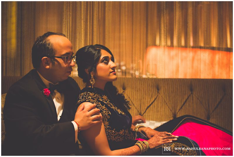Puja Neel - Chicago Marriott O'Hare - Indian Wedding -  Bride Groom Portraits - Rahul Rana Photography