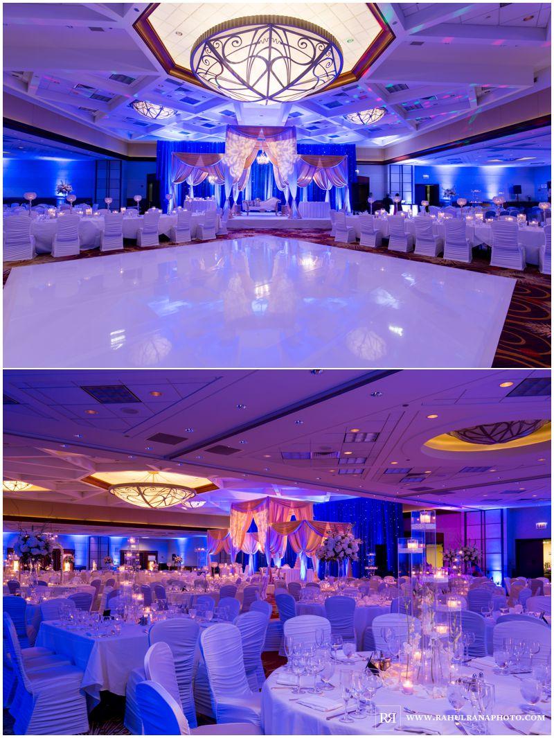 Puja Neel - Chicago Marriott O'Hare - Indian Wedding -  Reception Decor - Rahul Rana Photography
