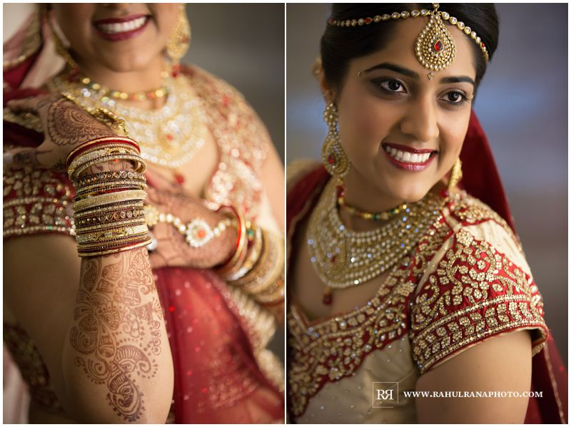 Puja Neel - Chicago Marriott O'Hare - Indian Wedding - Bride Getting Ready
