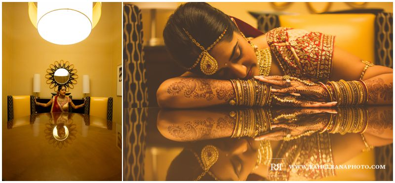 Puja Neel - Chicago Marriott O'Hare - Indian Wedding - Bridal Portrait