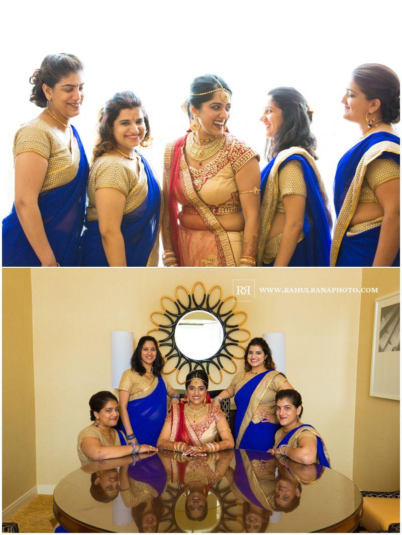 Puja Neel - Chicago Marriott O'Hare - Indian Wedding - Bridesmaids Portrait