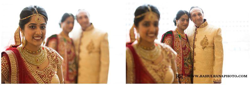 Puja Neel - Chicago Marriott O'Hare - Indian Wedding - Bride Family Portrait